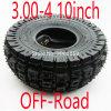 Qind off-road de 10 pulgadas a 3,00-4 Scooter ATV de neumáticos