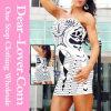 Fashion Awesome Mirrored Print Voir la bande-annonce MIDI Party Tube Bandage Dress