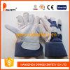 Перчатки Спилковые Комбинированные Пятипалые Рабочие Перчатки (DLC216)