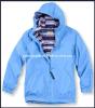 Leisure Style Fleece Jacket dos homens com Hood