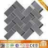 Мозаика гранита и стекла цвета прямоугольника и квадрата смешанная формой серая (M855171)