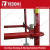 Teconの構築のRinglockの足場システム