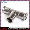 Te común de la instalación de tuberías de acero inoxidable de la soldadura de la fabricación de metal T