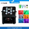 高品質12PCS*18W 6in1 Rgbawディスコのための紫外線電池式の無線電池の同価ライト