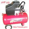 2HP 25L de accionamiento directo del pistón de tornillo compresor de aire
