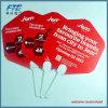 Plastica su ordinazione che fa pubblicità al ventilatore della mano del popolare per la promozione