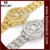 Belbi 꽃 다이아몬드 여자 아날로그 손목 시계를 위한 특별한 다이얼 디자인