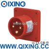Qixingの企業のパネルによって取付けられるプラグ400V 16A 4p 6h IP44
