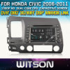 Honda Civic 2006-2011년 (W2-D8313H) Steering Wheel Control Front DVR Capactive Screen를 위한 Witson Car DVD