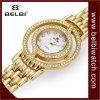 Belbi 시계 창조적인 사나운 형식 다이아몬드 두 배 디스크 팔찌 간단한 석영 시계