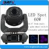 Cabezal móvil Transportador de DJ Luz luces Mini LED 60W Spot