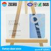 Tarjeta clara transparente del nombre comercial del PVC del plástico