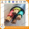 Câble d'alimentation de cuivre 0.6/1kv 5core de PVC