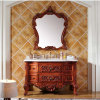 Cabinet de toilette sanitaire à bois massif à peinture moderne (GSP14-009)