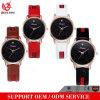 Reloj de tiempo cristalino de las mujeres del reloj de Silcone del cuarzo de Japón Movt de los relojes de la parte posterior del acero inoxidable Vs-074