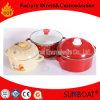 ハンドルまたは台所用品のエナメルのカセロールが付いているエナメルの標準的な鍋