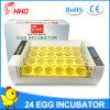 Hhdの最新のモデル自動24の鶏の卵の定温器を回す