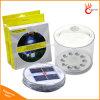 옥외를 위한 휴대용 태양 손전등 재충전용 Foldable 팽창식 태양 손전등 야영 태양 LED 빛