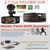 Caro DVR de carro de 2.7 FHD1080p com Ntk96650 Gravador de vídeo digital de carro, 3.0m Aptina Ar0330 Câmera de carro, Controle de estacionamento, Visão noturna, Decreto de movimento Caixa de carro preto