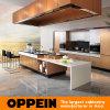 Cabinet de cuisine chaud de feuille métallique d'or d'Oppein de vente (OP14-067)