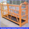 Scissor la plataforma de trabajo de aluminio suspendida aleación del alzamiento de la construcción