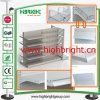 Metall Retail Display Shelf mit Slot Back Panel