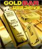 Mecanismo impulsor del flash del USB de la barra de oro del regalo del asunto de manera de la alta calidad