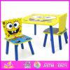 Los niños 2015 mesa de madera y sillas, muebles para niños colorida mesa y silla, mesa de madera de alta calidad y una silla juguete W08G102