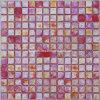 赤い虹色のモザイク・ガラス、モザイク・タイル(HGM319)