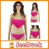 Frauen-Troddel-Büstenhalter-Badeanzügebeachwear-Rosen-roter reizvoller Bikini (KS610106)