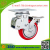 Doppelte Bremsen-Schlag-Absorptions-Fußrolle mit PU-Rad