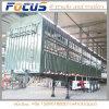 De 3 essieux de pieu remorque semi pour la charge de conteneur ou de cargaison en bloc