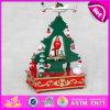 2015 Decoración de madera del árbol de Navidad caja de música, popular árbol de navidad de la caja de música para niños, hermoso árbol de Navidad Música juguete W07b012A