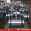 Acier forgé Solid Ball Tourillon Ball Valve