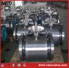 Válvula de bola del muñón de acero forjado bola sólida