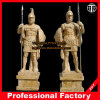Alte Krieger-Marmorstatue-schnitzende Marmorskulptur Itlian Skulptur-Hotel-Steinskulptur
