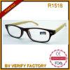 R1518 de haute qualité et des lunettes de lecture à la mode avec du bambou Temple