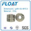 Boule en acier inoxydable à flotteur magnétique à billes pour le niveau de l'eau Commutateur flottant (40mm * 35mm * 15.5mm)