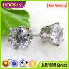 Просто конструкция только одна вымощенная серьга стержня диаманта, фасонирует белые серьги #21144 стержня диаманта