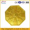 Divisa de encargo del metal del Ocho-Diagrama de la promoción en placa de oro
