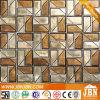 Rosso e placcatura dorata calda di fusione Mosaico di vetro (H638003)