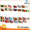 Diseño de OEM de metal personalizados de todos los países Bandera Insignia de solapa