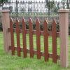 WPC valla de jardín compuesto de plástico, madera, valla