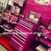 Rollen-Stahlwerkzeugkasten-Schrank-Hersteller, die rosafarbenen Kasten bearbeiten