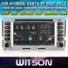 ヒュンダイサンタフェのためのWitson Car DVD Player Capacitive Screen Bluntooth 3G WiFi OBD DSPの2007-2011年(W2-D8268Y)のCD Copy