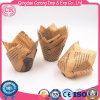 Le traitement au four de tulipe met en forme de tasse des caisses de tulipe de cuvette de pain avec l'impression de journal