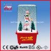 Семья СИД снеговика украшения рождества освещает корабль стекла праздника украшения