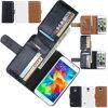 Het mobiele Geval van Solt van de Kaart van het Leer van de Telefoon voor Samsung S6