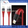 Umsponnenes Mfi zugelassenes Blitz-Nylonkabel für iPhone X/8/8 plus/iPad/iPod
