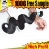 Clip-en el pelo de la venta caliente de las extensiones brasileñas del pelo 10A